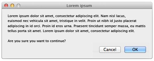 Lorem Ipsum Dialog Example